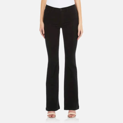 J Brand Women's Maria Flare Jeans - Seriously Black