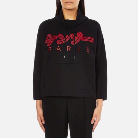 KENZO Women's Japanese Logo Wide Sleeve Sweatshirt - Black