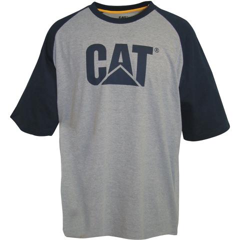 Caterpillar Men's Raglan Trademark T-Shirt - Grey