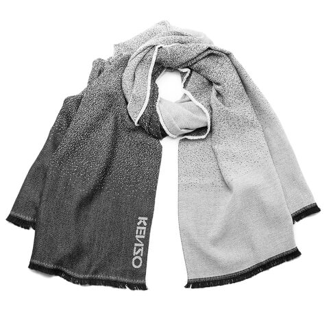 KENZO Women's High End Icons Degrade Jacquard Scarf - Grey