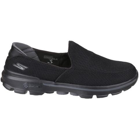 Skechers Men's GOwalk 3 Low Top Trainers - Black