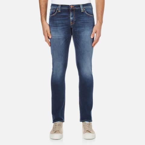 Nudie Jeans Men's Long John Skinny Jeans - Navy Shade