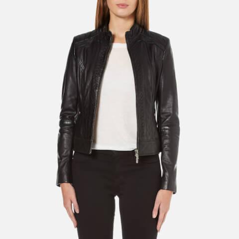 BOSS Orange Women's Janabelle Leather Jacket - Black