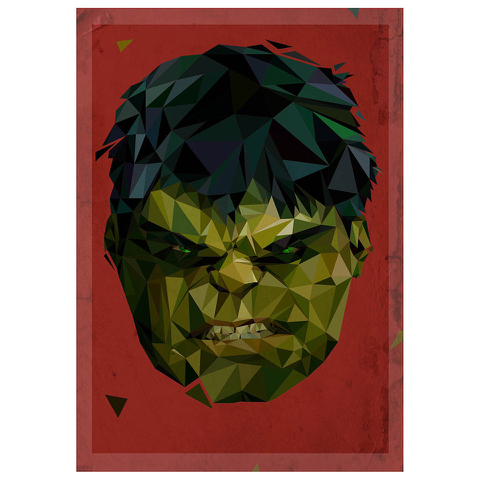 In Pieces' - Hulk Inspired Artwork Print - 14 x 11 Inches