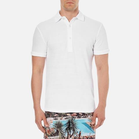 Orlebar Brown Men's Sebastian Towelling Polo Shirt - White
