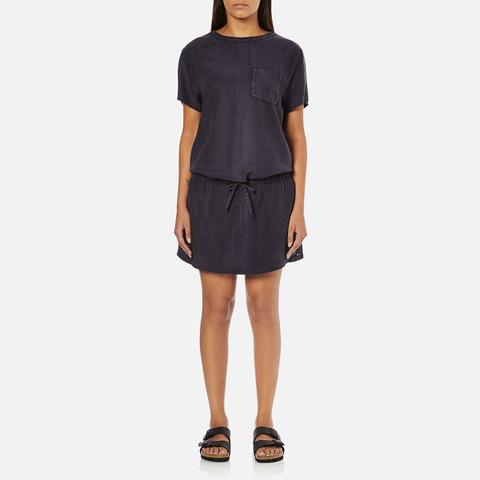Maison Scotch Women's Straight Fit Zipper Dress - Blue