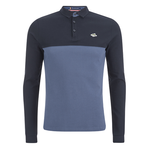 Le Shark Men's Benhill Long Sleeve Polo Shirt - Bijou Blue