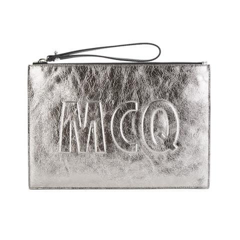 McQ Alexander McQueen Women's Clutch Bag - Light Gunmetal