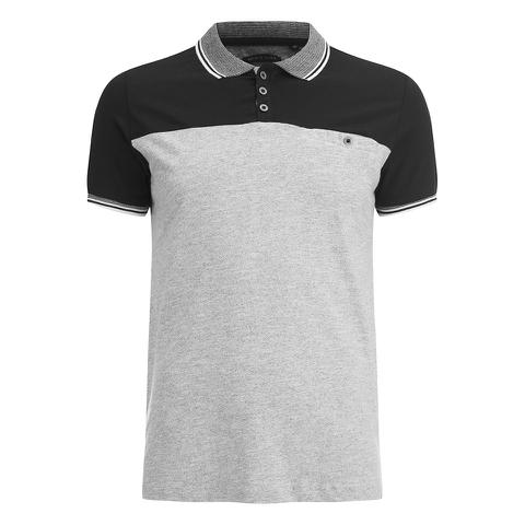 Brave Soul Men's Steranko Panel Tipped Polo Shirt - Black