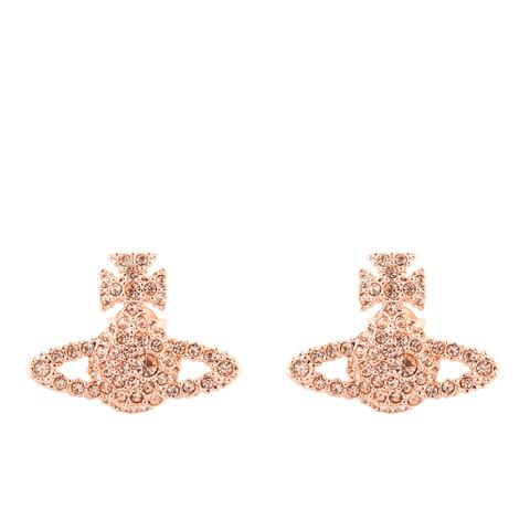 Vivienne Westwood Jewellery Women's Grace Bas Relief Stud Earrings - Pink Gold