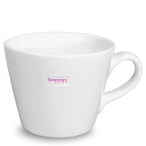 Keith Brymer Jones Happy Bucket Mug - White