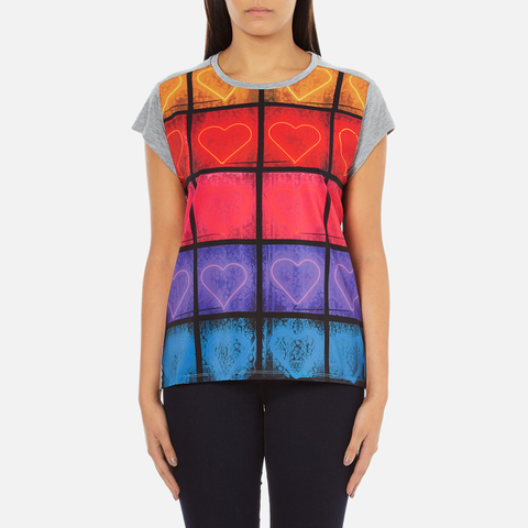 PS by Paul Smith Women's Neon Heart T-Shirt - Grey