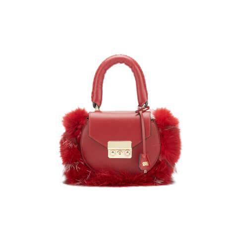 SALAR Women's Mimi Mini Fur Bag - Bordeaux