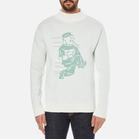 Garbstore Men's Postman Cotton Sweatshirt - White