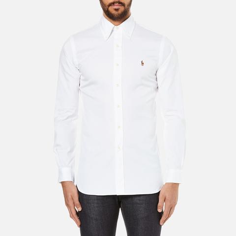 Polo Ralph Lauren Men's Custom Fit Button Down Pinpoint Oxford Shirt - White