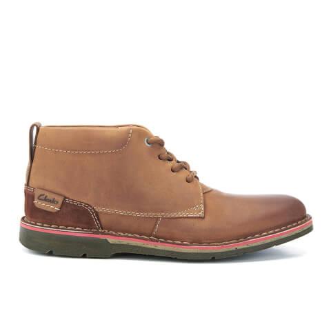 Clarks Men's Edgewick Mid Nubuck Chukka Boots - Tan