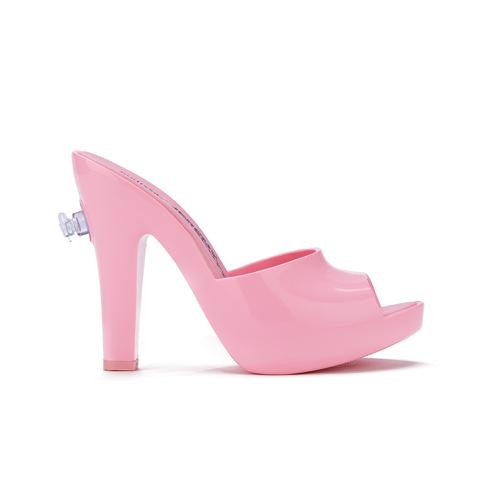 Jeremy Scott for Melissa Women's Inflatable Heeled Mules - Bubblegum Pink