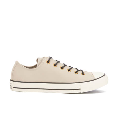 Converse Men's Chuck Taylor All Star Leather/Corduroy Ox Trainers - Frayed Burlap/Egret/Black
