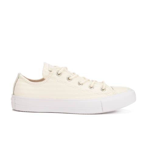 Converse Women's Chuck Taylor All Star Craft Leather Ox Trainers - White Monochrome