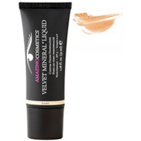 Amazing Cosmetics Velvet Mineral Liquid Custom Finish Foundation - Medium Tan