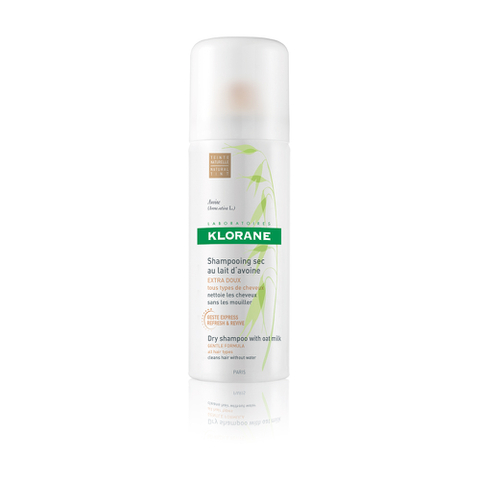 Klorane Dry Shampoo with Oat Milk - Natural Tint - Travel Size