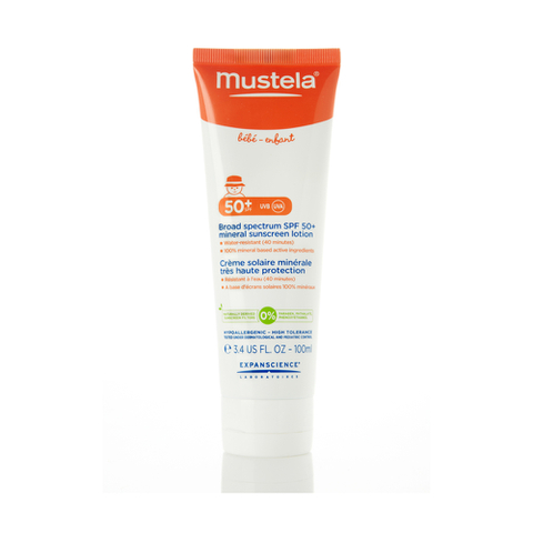 Mustela Broad Spectrum Mineral Sunscreen Lotion SPF 50 Plus