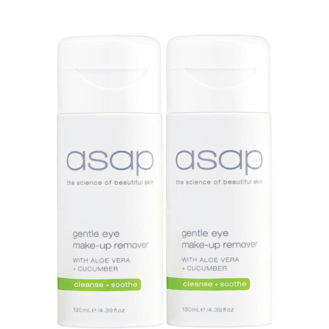 2x asap gentle eye make-up remover 130ml