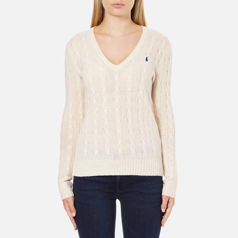 Polo Ralph Lauren Women's Kimberley Cashmere Blend Jumper - Cream