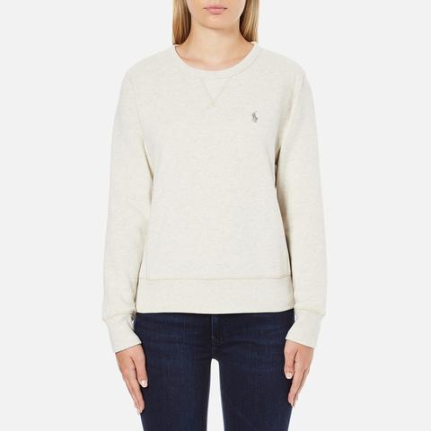 Polo Ralph Lauren Women's Crew Neck Logo Sweatshirt - Chalk Heather