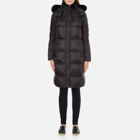 MICHAEL MICHAEL KORS Women's Fur Collar Long Puffa Coat - Black