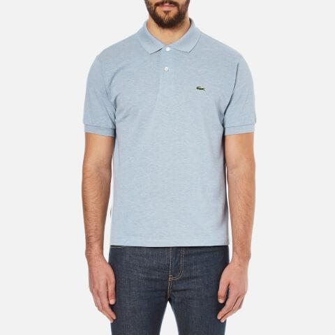Lacoste Men's Basic Pique Short Sleeve Marl Polo Shirt - Celestial Chine