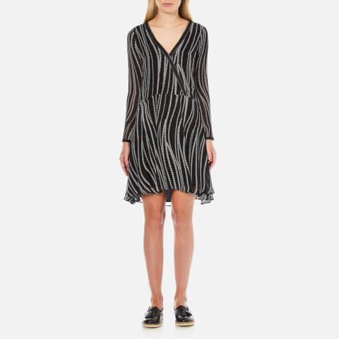 Karl Lagerfeld Women's Zipper Print Dress - Zipper Print Black