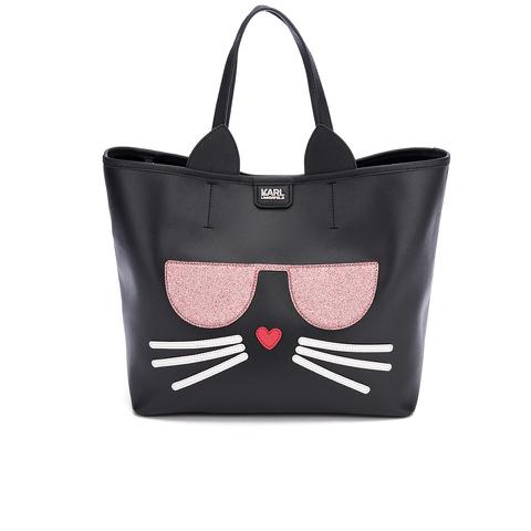Karl Lagerfeld Women's K/Kocktail Choupette Shopper Bag - Black