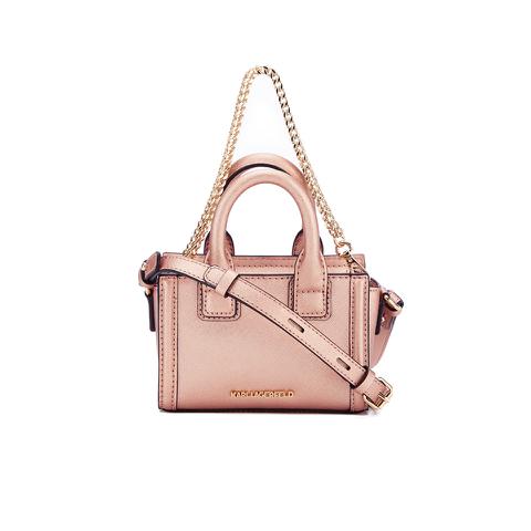Karl Lagerfeld Women's K/Klassik Micro Tote Bag - Metallic Rose