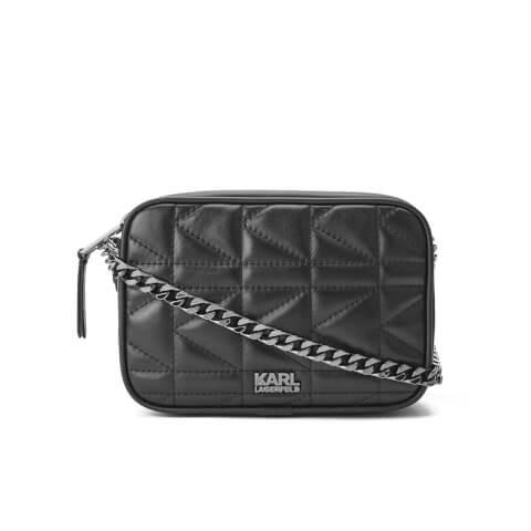 Karl Lagerfeld Women's K/Kuilted Small Cross Body Bag - Black/Black