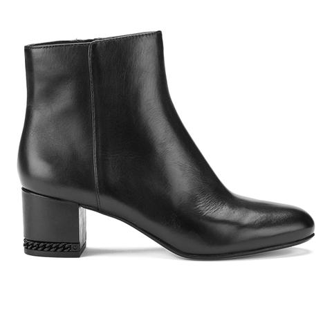 MICHAEL MICHAEL KORS Women's Sabrina Leather Mid Heeled Boots - Black