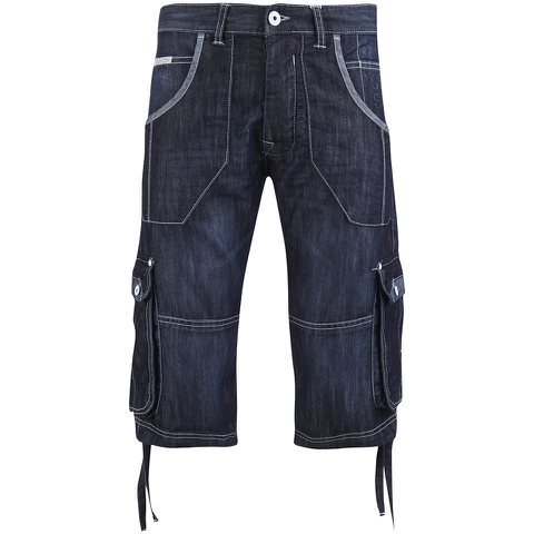 Crosshatch Men's Kanaster Denim Shorts - Dark Wash