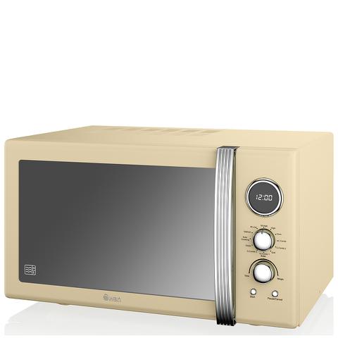 Swan Retro 25L Digital Combi Microwave with Grill - Cream