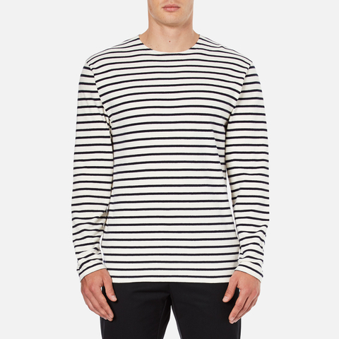Wood Wood Men's Harrison Long Sleeve T-Shirt - Pristine/Dress Blues