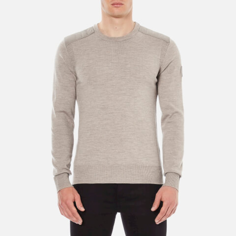 Belstaff Men's Kerrigan Crew Sweater - Chino Melange