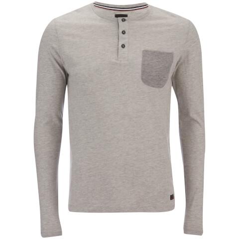 Produkt Men's Contrast Pocket Long Sleeve Top - Light Grey Melange