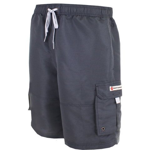 Hot Tuna Men's Regular Joe Shorts - Charcoal