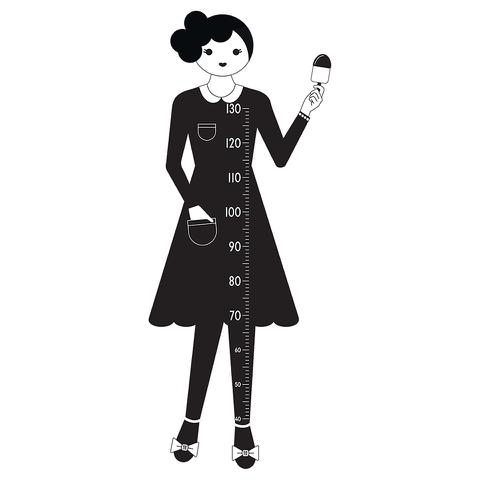 Design Letters Kids' Collection Measurewoman Wallsticker - Black