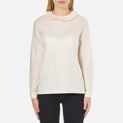 A.P.C. Women's Juliette Frill Neck Blouse - White
