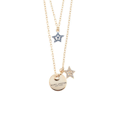 Marc Jacobs Women's MJ Coin Layered Pendant - Crystal/Antique Gold