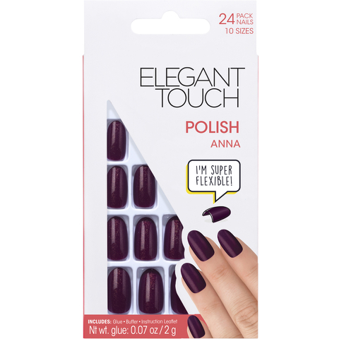 Elegant Touch Polished Nails Glamour Collection - Anna