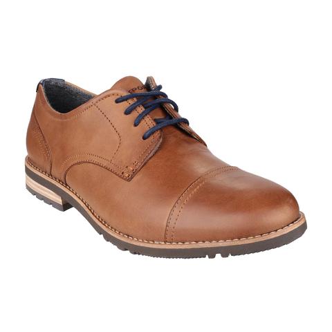 Rockport Men's Ledge Hill 2 Toe Cap Oxford Shoes - Caramel
