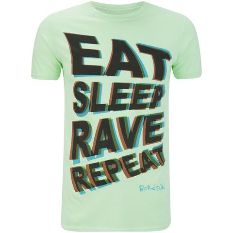 Fat Boy Slim Men's Eat Sleep Rave Repeat T-Shirt - Mint