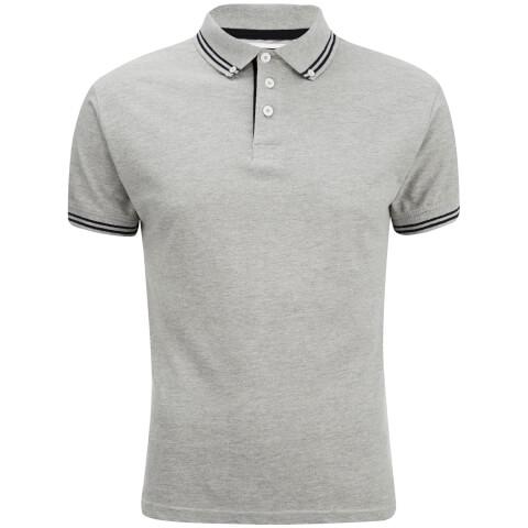 Soul Star Men's Ralling Polo Shirt - Light Grey Melange