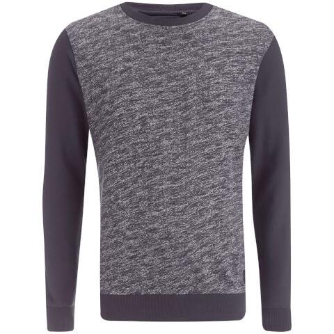 Brave Soul Men's Stone Zip Sweatshirt - Navy